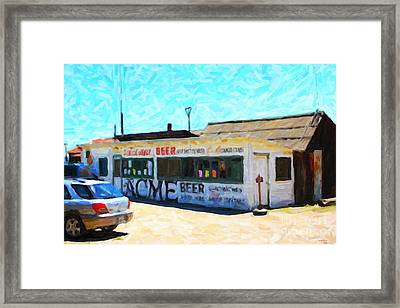 Acme Beer At The Old Lunch Shack At China Camp Framed Print by Wingsdomain Art and Photography