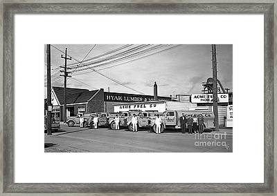 Framed Print featuring the photograph Acme Fuel Crew And Trucks by Merle Junk