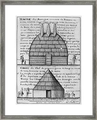 Acolapissa Temple & Cabin Framed Print by Granger