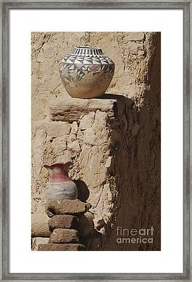 Acoma Pueblo Pottery Framed Print
