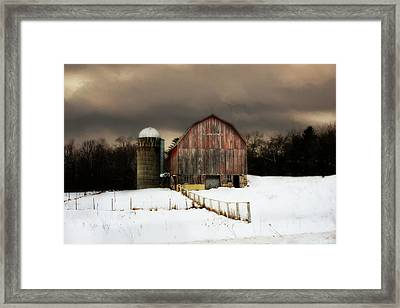 Acorn Acres Framed Print by Julie Hamilton