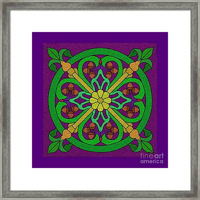 Acorn On Dark Purple Framed Print by Curtis Koontz
