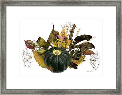 Framed Print featuring the digital art Acorn Squash Bouquet by Lise Winne