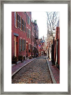 Acorn Street Beacon Hill Framed Print