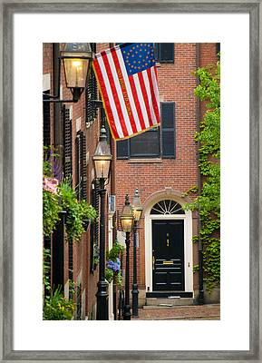 Framed Print featuring the photograph Acorn Street by Caroline Stella