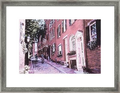 Acorn Street, Looking Uphill Framed Print by Sean Moore