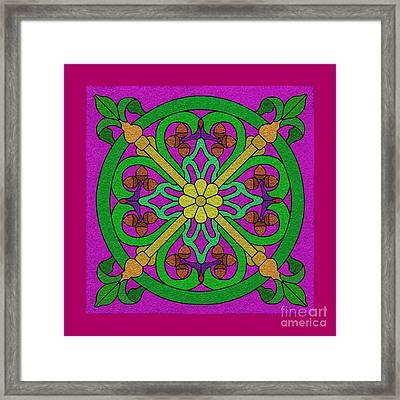 Acorns On Hot Pink Framed Print by Curtis Koontz
