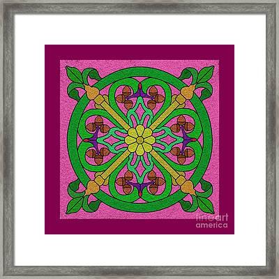 Acorns On Pink Framed Print by Curtis Koontz