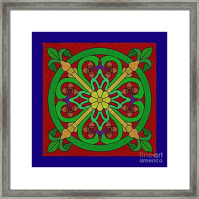 Acorns On Red 2 Framed Print by Curtis Koontz