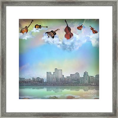 Acoustic City Limits Framed Print