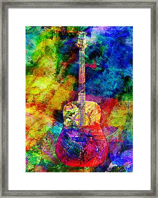 Acoustic Colors Framed Print by Ally White