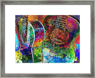 Acoustic Cubed Framed Print