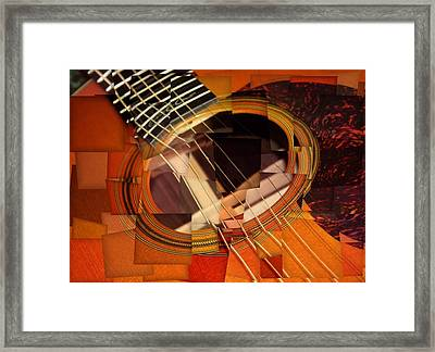 Acoustic Cubism Framed Print by Dan Sproul