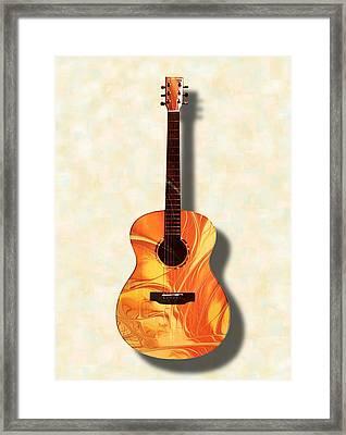 Acoustic Guitar - Musical Instruments Framed Print by Anastasiya Malakhova