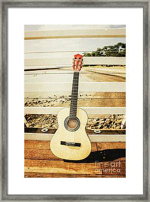 Acoustic Guitar Still Life Art Framed Print