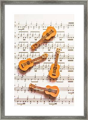 Acoustic Quartet Framed Print