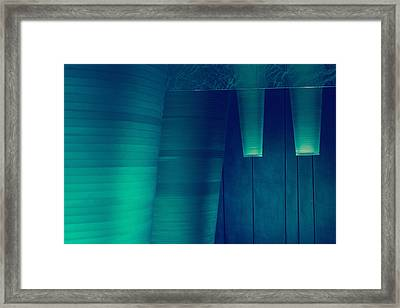 Framed Print featuring the photograph Acoustic Wall by Bobby Villapando
