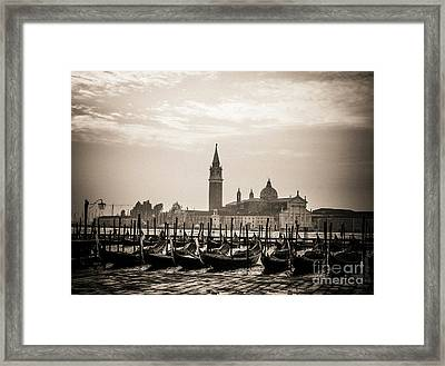 Acqua Alta. Flood . Venice. Italy Framed Print by Bernard Jaubert