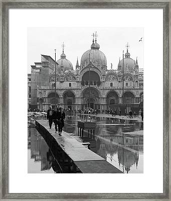 Acqua Alta, Piazza San Marco Framed Print by Richard Goodrich