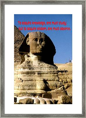 Acquire Knowledge Framed Print by Gary Wonning