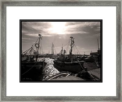 Framed Print featuring the photograph Acre  Fishing Port by Arik Baltinester