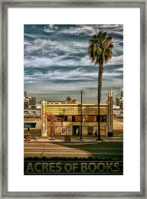 Acres Of Books Framed Print by Bob Winberry