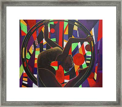 Acrobat In Ring Framed Print