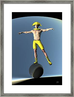 Acrobat Light Circus Framed Print