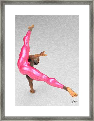 Acrobatic Dancer Framed Print