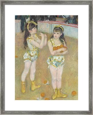 Acrobats At The Cirque Fernando Framed Print