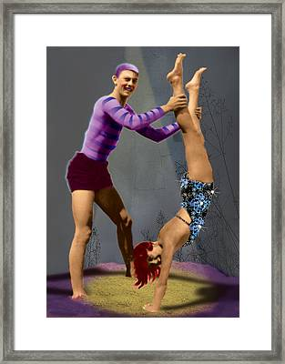 Acrobats Framed Print by Max Scratchmann