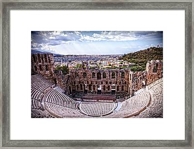 Framed Print featuring the photograph Acropolis by Linda Constant