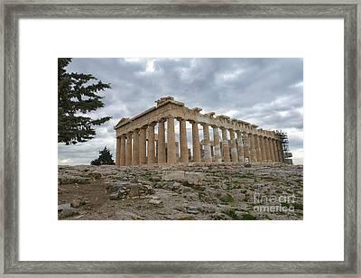 Acropolis Of Athens, Greece Framed Print