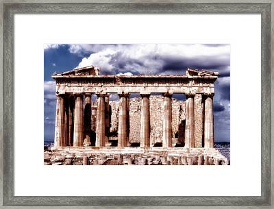Acropolis Of Greece Framed Print