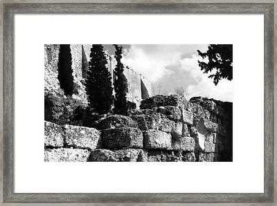 Acropolis Framed Print by Susan Chandler
