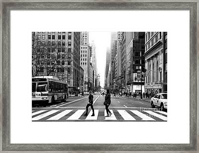 Across 5th Avenue Framed Print
