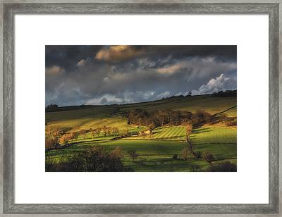Across Dovedale At Sunset Framed Print