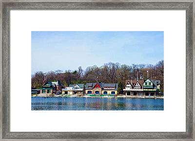 Across From Boathouse Row - Philadelphia Framed Print by Bill Cannon