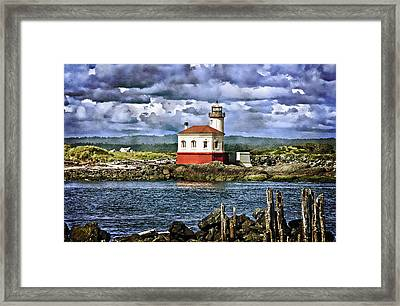 Across From The Coquille River Lighthouse Framed Print