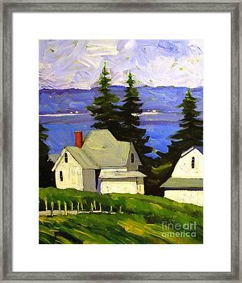 View Across Lake Shafer Framed Print