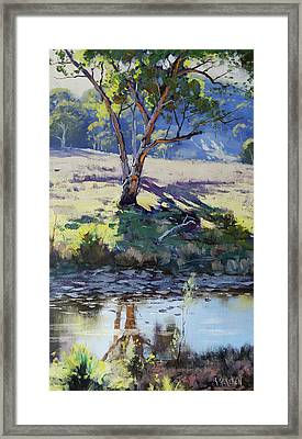 Across Long Ck Windeyer Framed Print