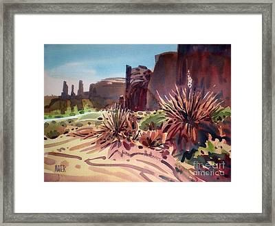 Across Monument Valley Framed Print
