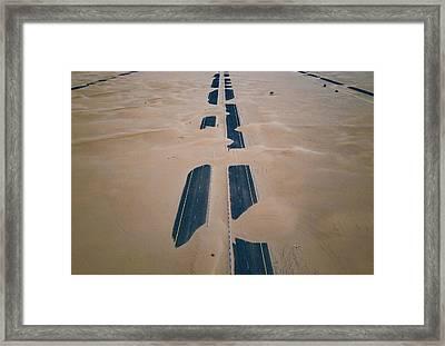 Across Sahara Framed Print
