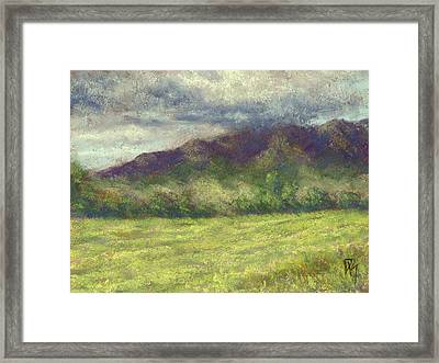 Across The Acres Framed Print by David King