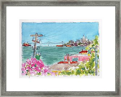 Across The Bay From Sausalito Framed Print by Pat Katz
