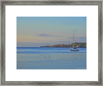 Across The Bay Framed Print