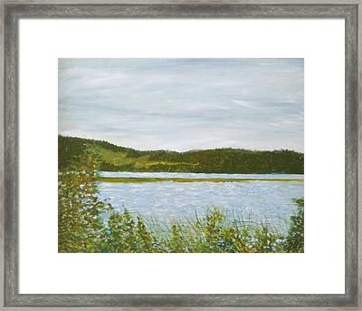 Across The Belleisle Framed Print by Norman F Jackson