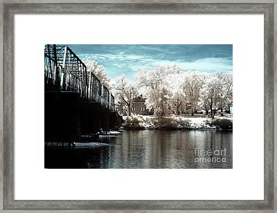 Across The Delaware River Infrared Framed Print