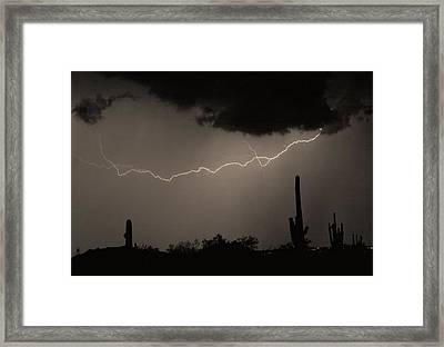 Across The Desert - Sepia Print Framed Print by James BO  Insogna