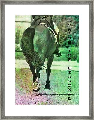 Across The Diagonal Quote Framed Print by JAMART Photography